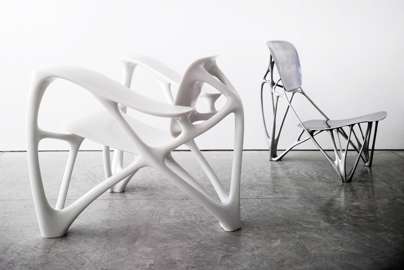Bone Chairs by Joris Laarman. Photo © Angus Shamal, courtesy of the designer.