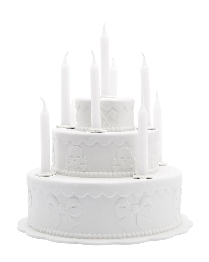 Biscuit Porcelain Tiered Cake Candleholder by Studio Job (2006); photo courtesy of Paddle 8