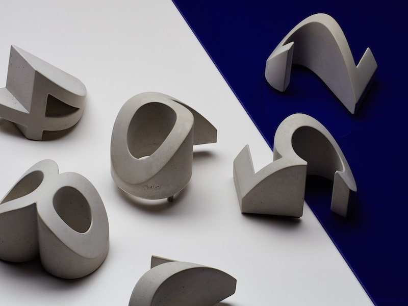 Daast's Numerals (2013), cast in concrete