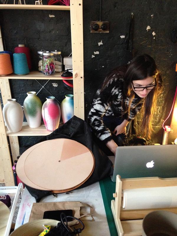 Lina Patsiou, Studio visit