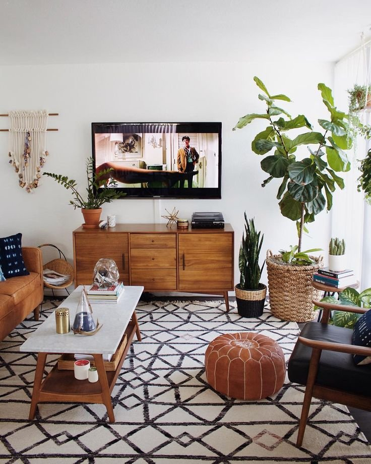 If Youre MidcenturyModern4Life But Also Love The Rich Textures Of Global Handicrafts Then This Boho Modern Interior From New Darlings Is Sure To Inspire
