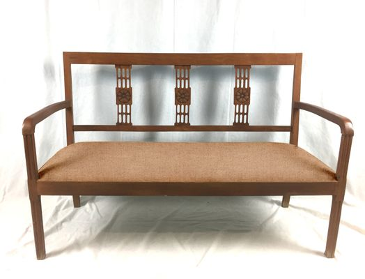 Superb Customizable Art Deco Wooden Bench For Sale At Pamono Pabps2019 Chair Design Images Pabps2019Com