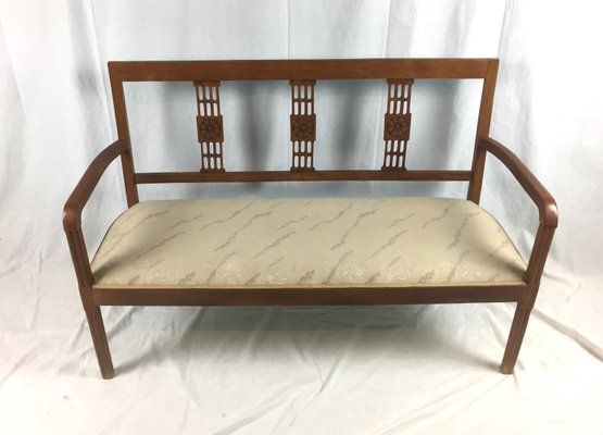 Fantastic Customizable Art Deco Wooden Bench For Sale At Pamono Pabps2019 Chair Design Images Pabps2019Com