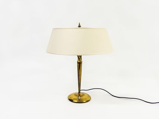 Large Brass Table Lamp By Emilio Lancia 1940s For Sale At Pamono