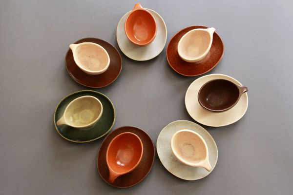 Raymor Coffee Set by Ben Seibel for Roseville Pottery, 1952