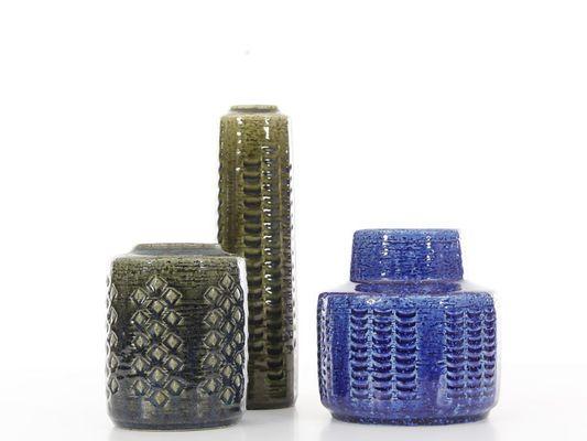 Mid Century Modern Ceramic Vase By Per And Annelise Linnemann