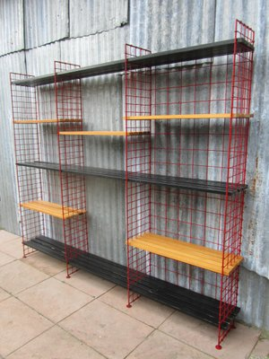 dutch modernist red wire shelving unit from metz co - Wire Shelving Units