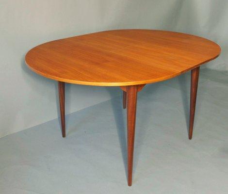 Extensible Mid En De Salle Manger Table Teck1960s Century Circulaire À CxhdtQrsB