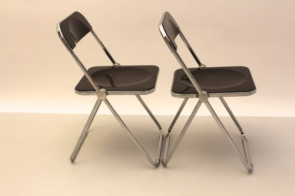 Italian Plia Folding Chairs By Gian Carlo Piretti For Anonima Castelli Set Of 2 1