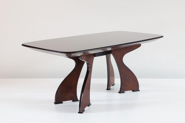 Table de Salle à Manger Moderne Sculpturale en Palissandre, Italie
