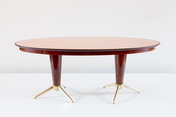 Italian Mahogany Oval Dining Table, 1952 1