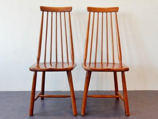 Sedie In Legno Massiccio.Sedie Vintage In Legno Massiccio Set Di 2
