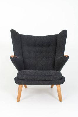 Danish Papa Bear Chair And Ottoman By Hans J. Wegner For AP Stolen, 1951