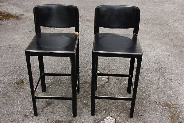 Brilliant Vintage Italian Leather Bar Stools By Matteo Grassi Set Of 2 Camellatalisay Diy Chair Ideas Camellatalisaycom