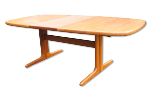 Danish Extendable Oval Teak Dining Table From Skovby 1970s 2