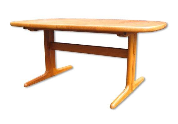 premium selection 3506e cf011 Danish Extendable Oval Teak Dining Table from Skovby, 1970s