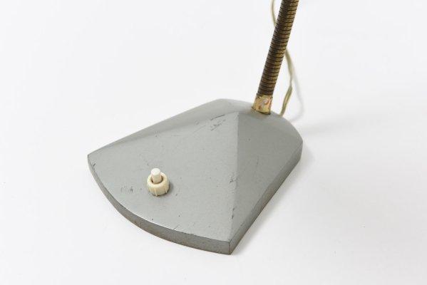 Lampada da scrivania grigia di h. busquet per hala zeist anni 60