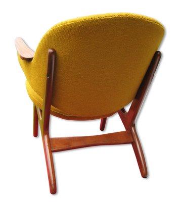 Gelber Mid Century Teak Easy Chair Von Carl Edward Matthes Bei