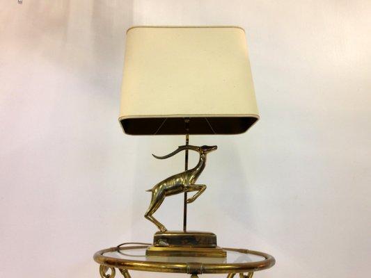 Lampe de bureau antilope en laiton france en vente sur pamono