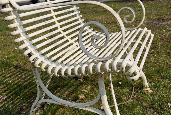 Sedie Francesi Da Giardino : Sedie da giardino in ferro battuto con braccioli francia inizio