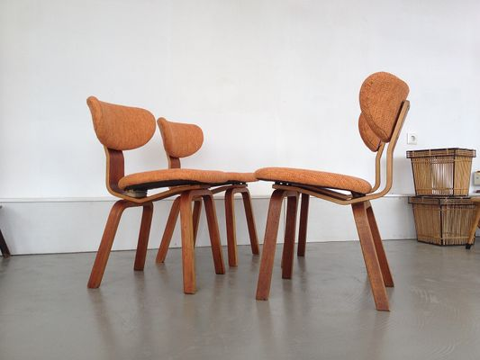 Dutch Dining Chairs by Cees Braakman for Pastoe 1950s Set of 4 2 & Dutch Dining Chairs by Cees Braakman for Pastoe 1950s Set of 4 for ...