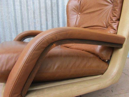 Vintage Longue Cuir En Chaise Bicolore1960s kXP8wONn0