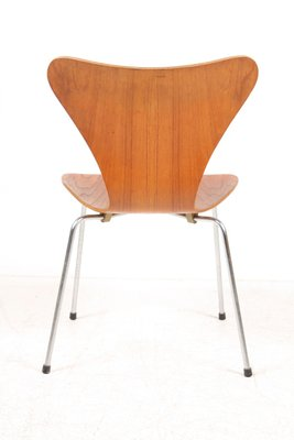 Danish Series 7 Teak Dining Chairs By Arne Jacobsen For Fritz Hansen 1960s Set