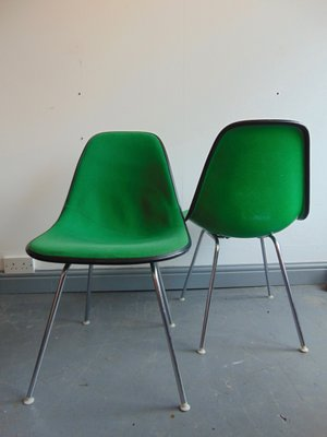 Vintage Green Side Chair By Charles And Ray Eames For Herman Miller 3