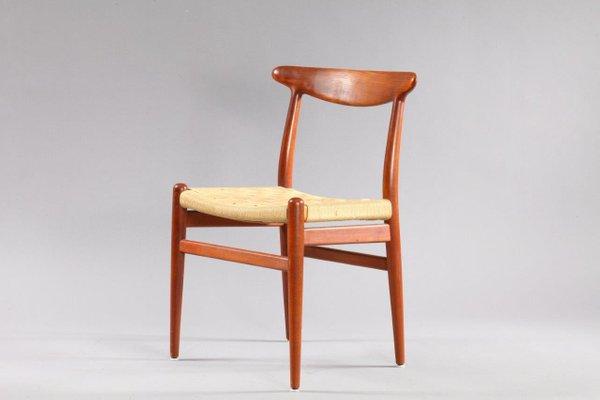 Danish Model W2 Teak Dining Chairs By Hans Wegner For CM Madsen 1950 Set