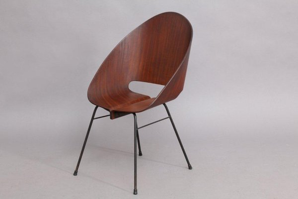 italian molded plywood stacking chair 1950 for sale at pamono