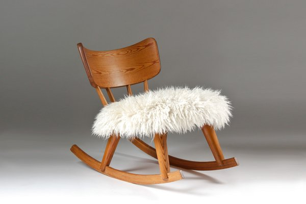 Swedish Pine Wood Rocking Chair 1940s For Sale At Pamono