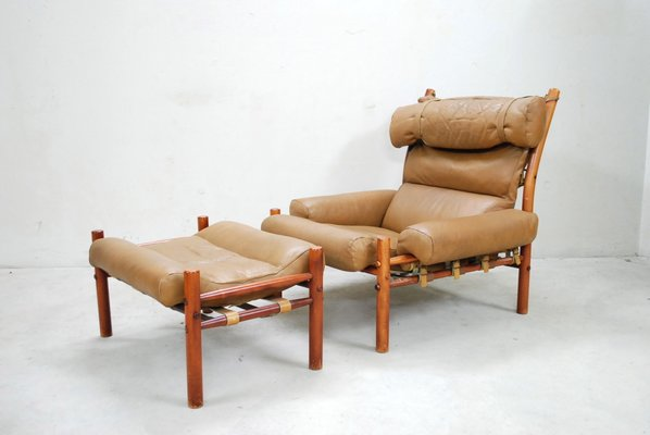inca lounge chair ottoman by arne norell for sale at pamono