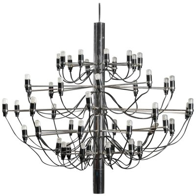 2097 50 Flos.Mid Century Italian 2097 50 Chrome Chandelier By Gino Sarfatti For Flos 1958