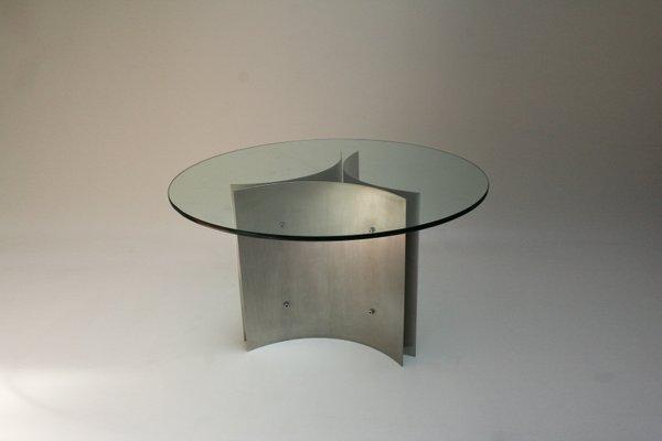 Tavolo Cristallo Anni 70.Tavolo Da Pranzo In Vetro E Acciaio Anni 70