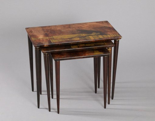 Goatskin Nesting Tables By Aldo Tura For Sale At Pamono - Nesting table with drawer