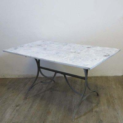 Table De Salle A Manger Industrielle En Metal Et Bois 1940s En