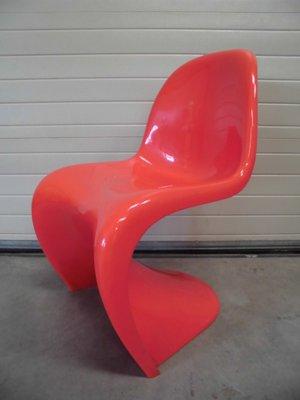 Roter Panton Stuhl Von Verner Panton Für Herman Miller, 1971 1
