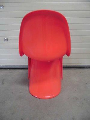 red panton chair by verner panton for herman miller 1971 for sale