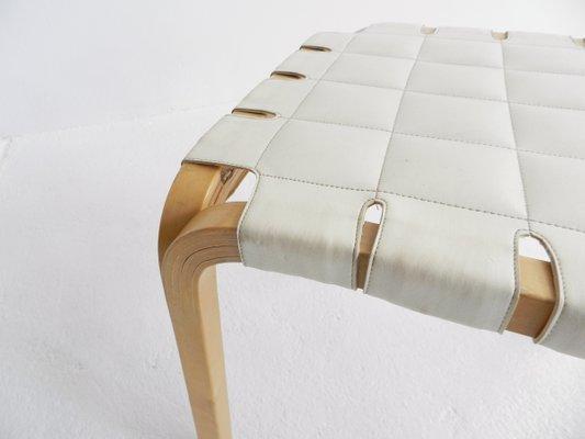 Sgabello modello y61 vintage con gambe a y di alvar aalto per artek