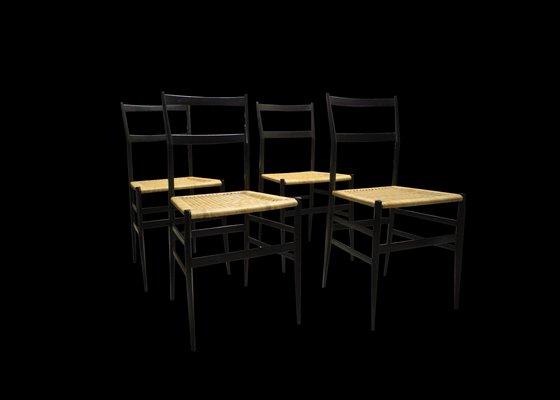 Sedie di gio ponti per cassina italia set di in vendita