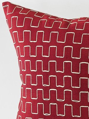 Edo Decorative Pillow In Red And Gold By Nzuri Textiles 40 For New Red And Gold Decorative Pillows