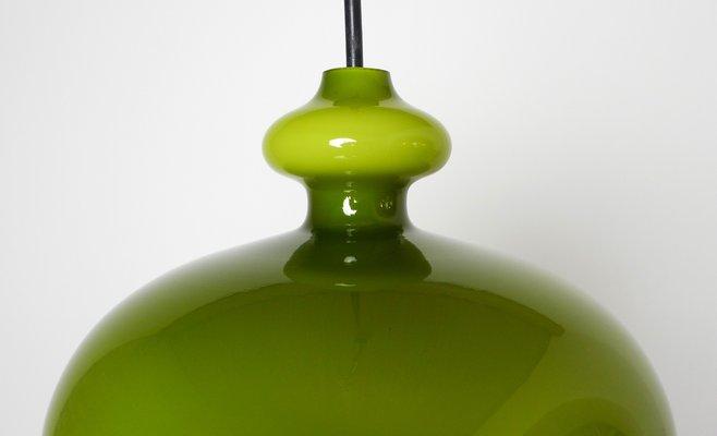 Lampade In Vetro Soffiato : Lampada a sospensione in vetro soffiato a mano verde di staff