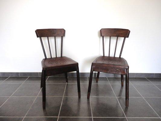 Sedie in metallo e quercia francia set di in vendita su