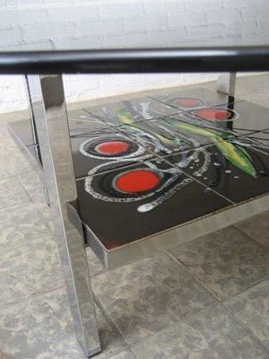 Et VerreBelgique1960s Table Basse Carrelage Vintage En N08nwOkXP