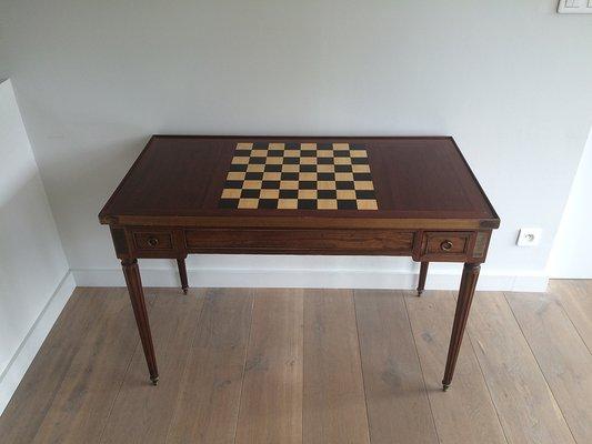 Antique Louis XVI Backgammon Game Table