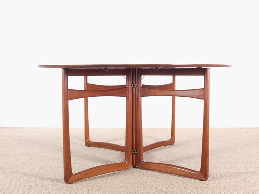 Mid Century Modern Teak 20 59 Folding Dining Table By Hvidt And Molgaard Nielsen For Sale At Pamono