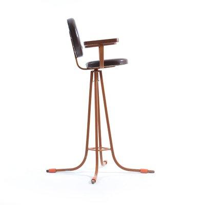 Awe Inspiring Czech Tall Metal And Wood Childrens Chair 1960S Creativecarmelina Interior Chair Design Creativecarmelinacom