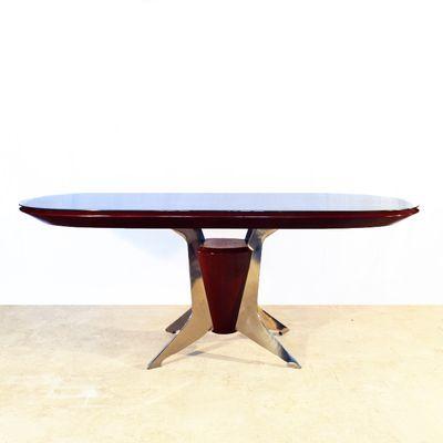 Italian Oval Dining Table, 1950s 2