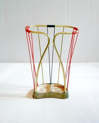Italian Umbrella Stand In Brass And Plastic 1950s For Sale At Pamono