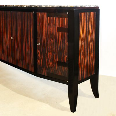 French Art Deco Sideboard with Four Doors, 1920s for sale at Pamono